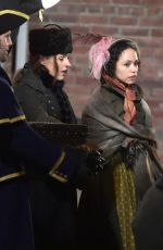 SUREANNE JONES on the Set of Gentleman Jack in Hartlepool 10/25/2018