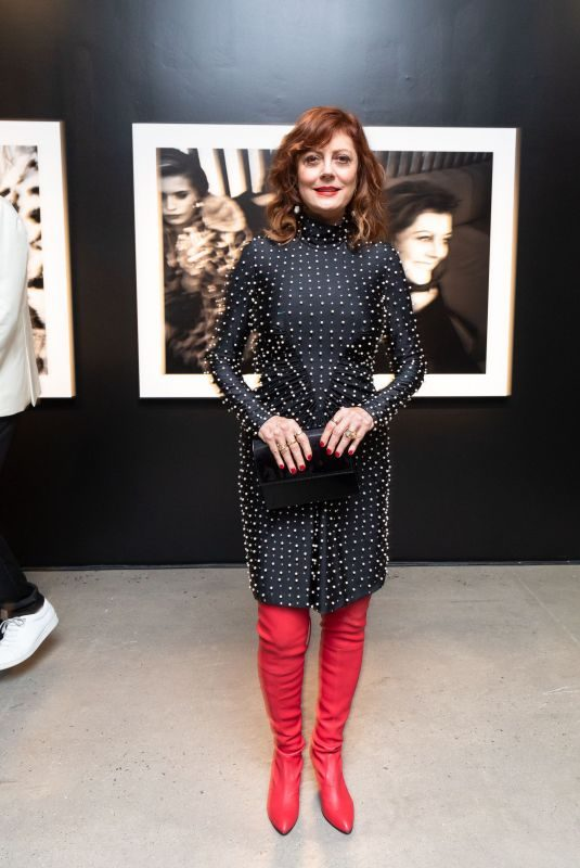 SUSAN SARANDON Assemblage Lenny Kravitz Exhibition in New York 09/28/2018