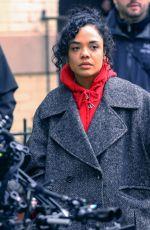 TESSA THOMPSON on the Set of Men in Black 4 in New York 10/22/2018