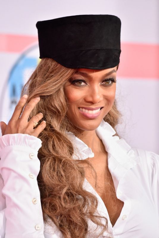 TYRA BANKS at American Music Awards in Los Angeles 10/09/2018