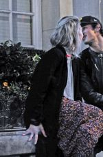 VANESSA KIRBY and Callum Turner Night Out in London 10/10/2018