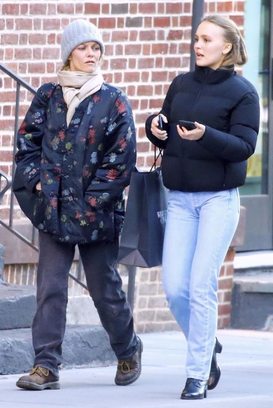 VANESSA PARADIS and LILY-ROSE DEPP Out in New York 10/19/2018