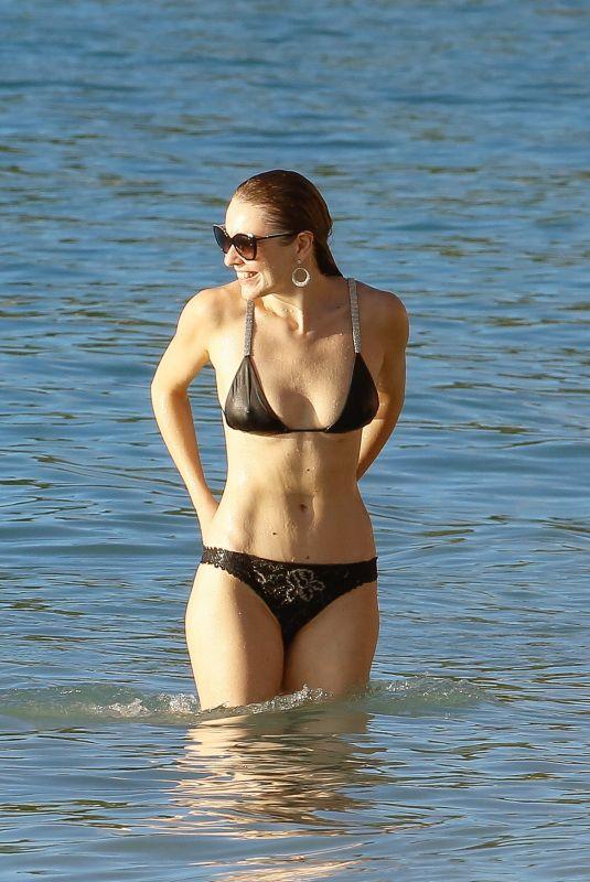ZOE SALMON in Bikini on the Beach in Barbados 10/29/2018