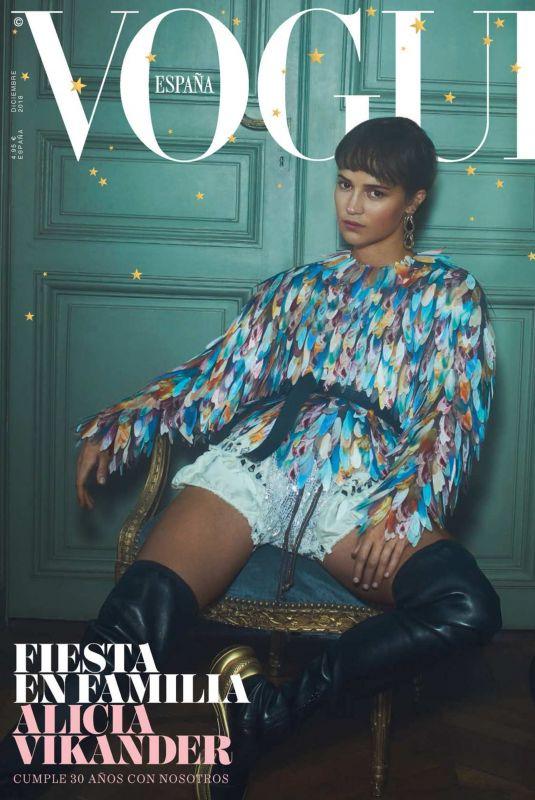 ALICIA VIKANDER in Vogue Magazine, Spain December 2018