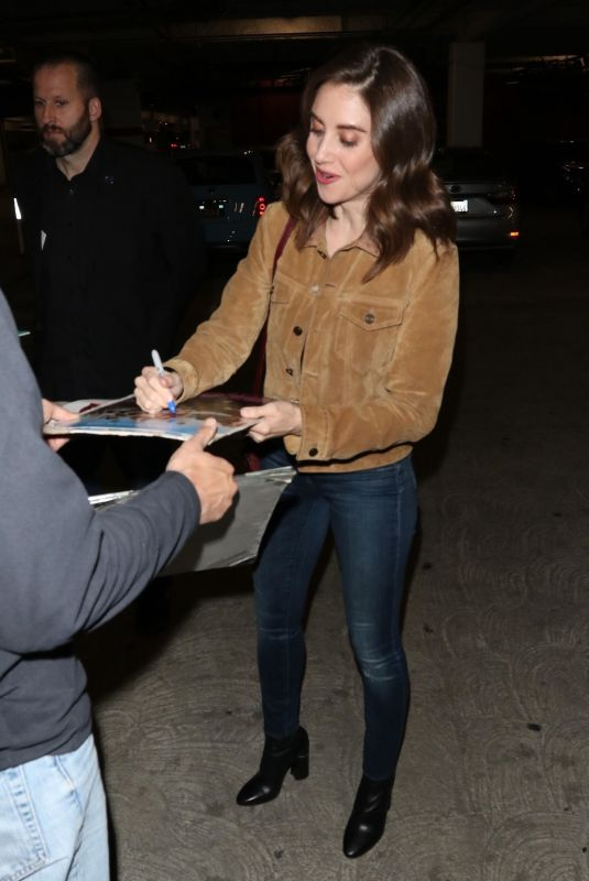 ALISON BRIE at Arclight Theatre in Hollywood 11/13/2018