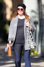 ALYSON HANNIGAH Leaves Pilates Class in Santa Monica 11/01/2018