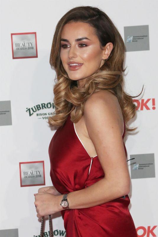 AMBER DAVIES at Beauty Awards 2018 in London 11/26/2018