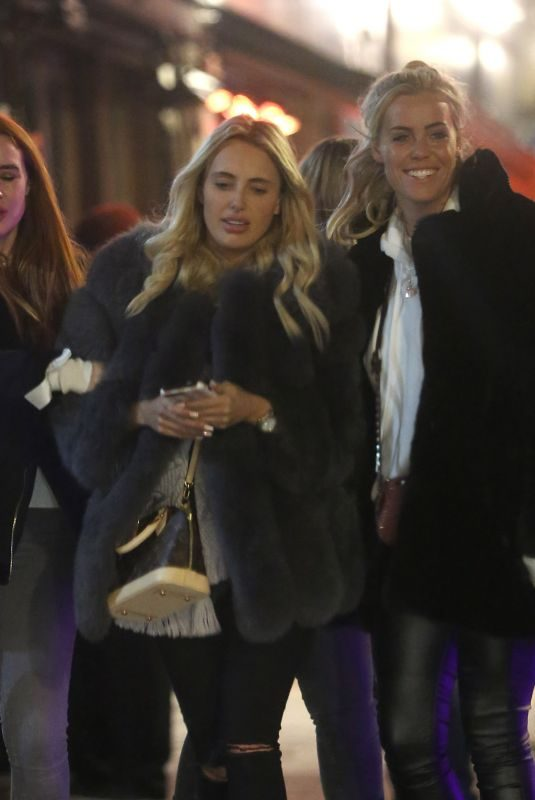 AMBER TURNER and CHLOE MEADOWS Night Out in London 11/23/2018