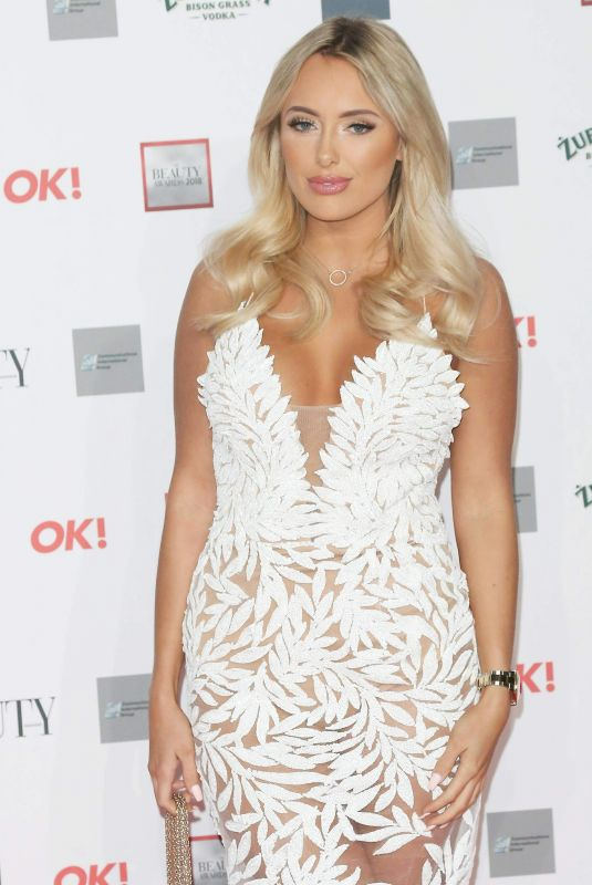 AMBER TURNER at Beauty Awards with OK! 2018 in London 11/26/2018