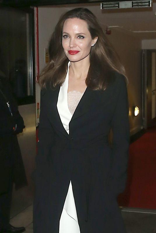 ANGELINA JOLIE Leaves BFI in London 11/23/2018