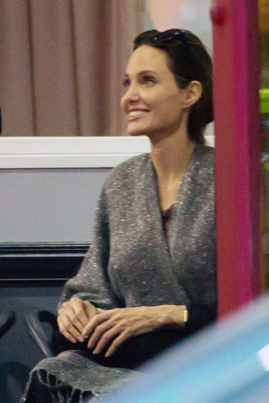 ANGELINA JOLIE Watches Her Kids Karate Class in Los Angeles 11/19/2018