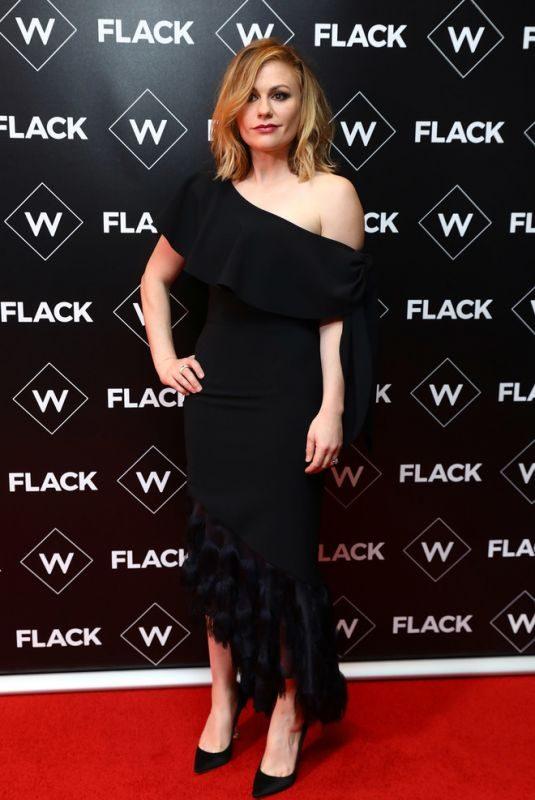 ANNA PAQUIN at Flack UKTV Premiere in London 11/13/2018