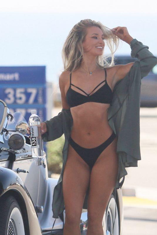 AUBREY EVANS in Bikini for 138 Water Photoshoot  in Malibu 11/06/2018