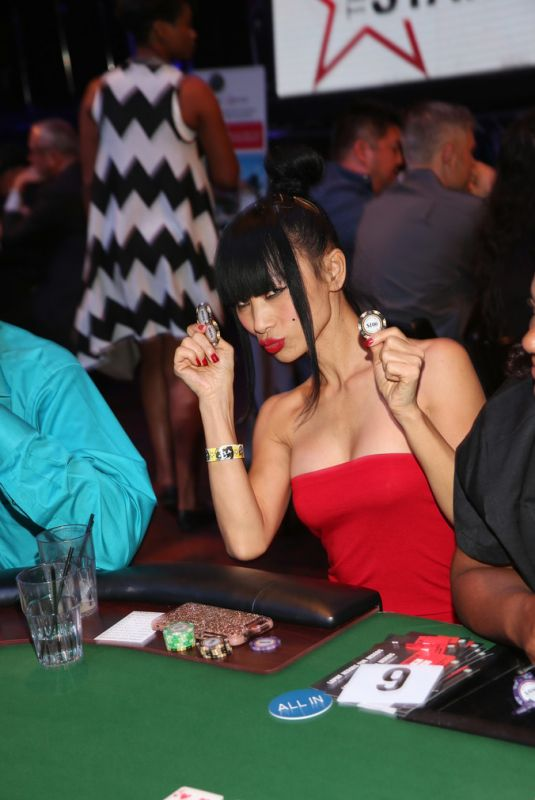 BAI LING at Heroes for Heroes: Los Angeles Police Memorial Foundation Celebrity Poker Tournament 11/10/2018