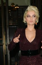 BEBE REXHA Leaves Ivy Kensington in London 11/23/2018