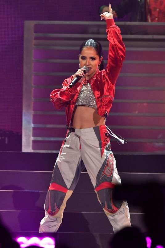 BECKY G Performs at Iheartradio Fiesta Latina in Miami 11/03/2018