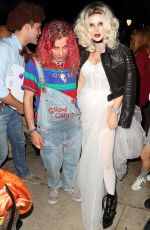BELLA THORNE at Halloween Party in Los Angeles 10/30/2018