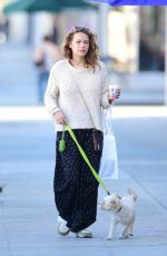 BETHANY JOY LENZ Out with Her Dog in Los Angeles 11/22/2018