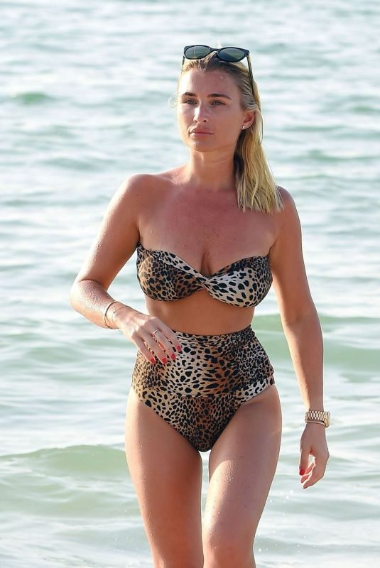 BILLIE FAIERS in Bikini at a Beach in Dubai 10/28/2018