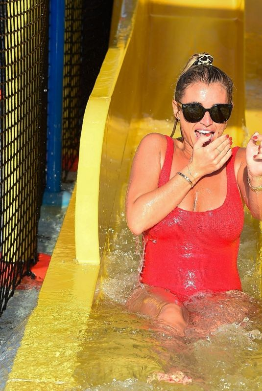 BILLIE FAIERS in Swimsuit at a Water Park in Dubai 11/02/2018