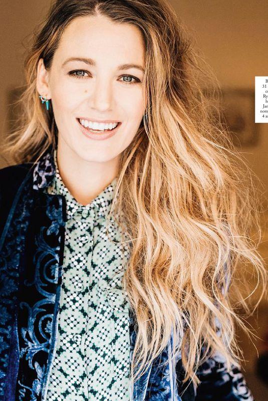 BLAKE LIVELY in Io Donna Del Corriere Della Sera, November 2018