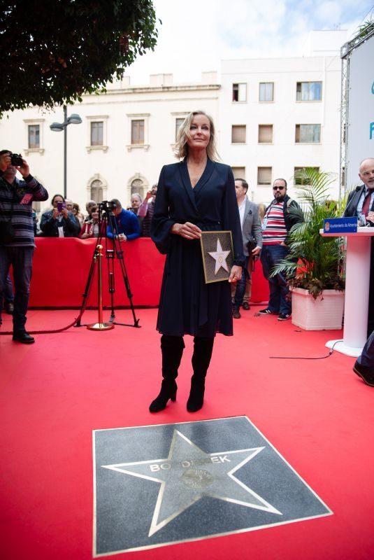 BO DEREK Honored at Almeria Walk of Fame at Almeria Film Festival 2018 in Madrid 11/24/2018