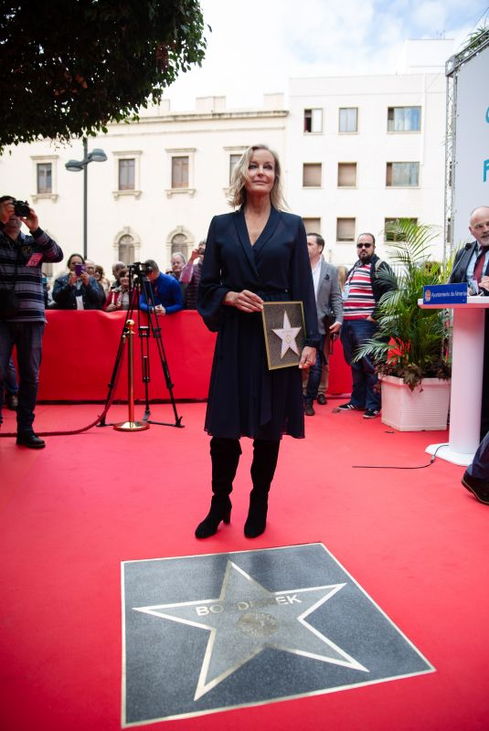 BO DEREK Honored at Almeria Walk of Fame at Almeria Film Festival 2018 in Madrid 11/24/2018