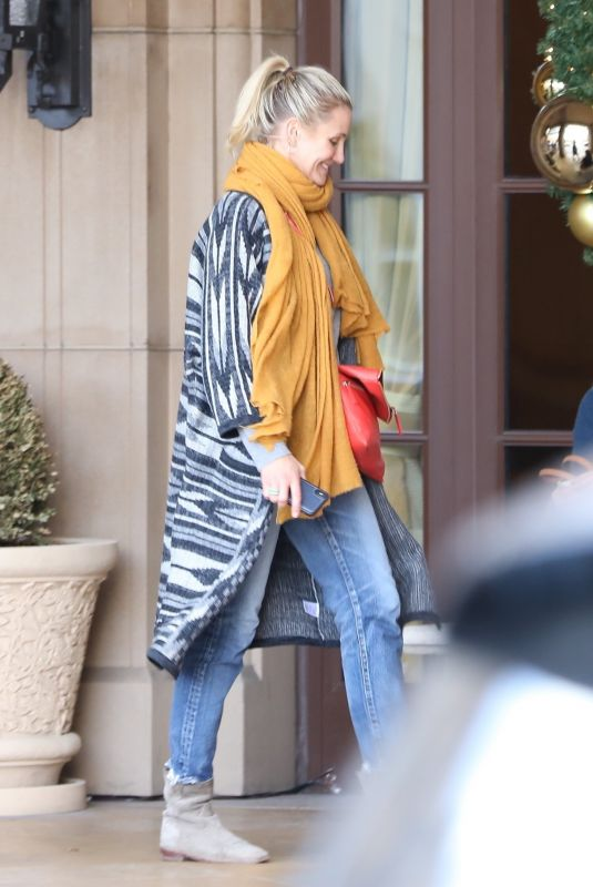 CAMERON DIAZ Out for Lunch at Montage Hotel in Los Angeles 11/30/2018
