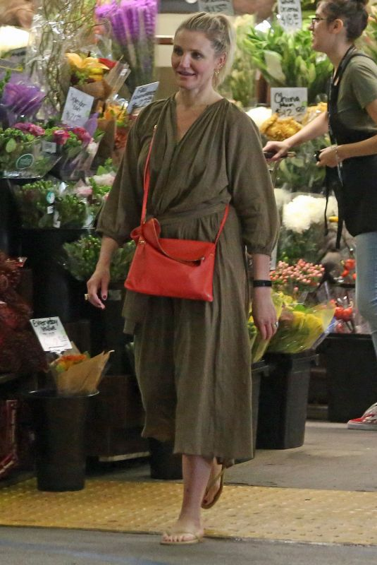 CAMERON DIAZ Out Shopping in Los Angeles 11/04/2018