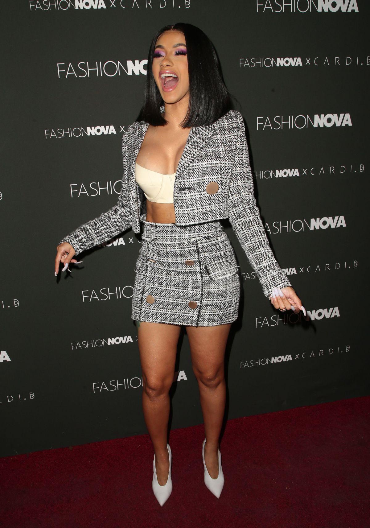 Cardi B No Clothing: CARDI B At Fashion Nova X Cardi B Launch In Los Angeles 11