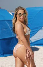 CARMEN VALENTINA in Bikini at a Beach in Miami 10/11/2018
