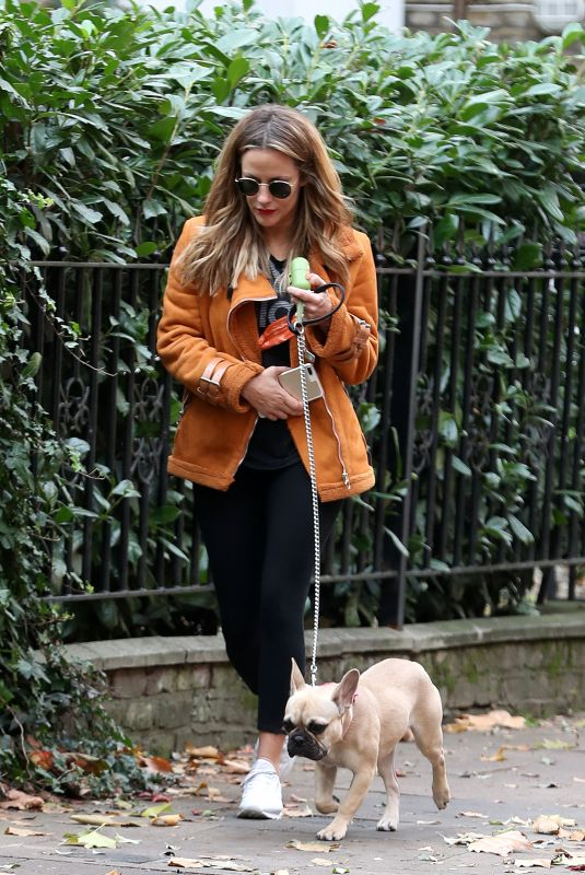CAROLINE FLACK Out with Her Dog in London 11/06/2018