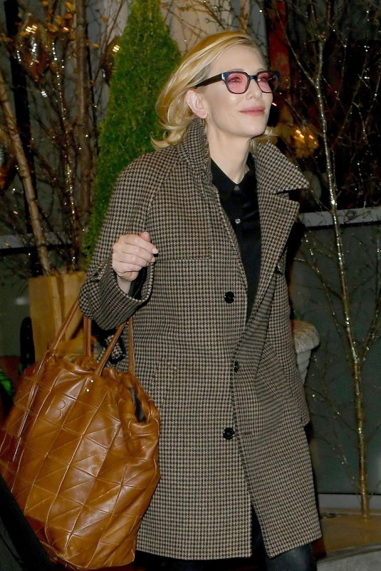 CATE BLANCHETT Leave Soho Hotel in London 11/22/2018