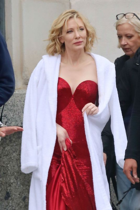 CATE BLANCHETT on the Set of Giorgio Armani Advert in Barcelona 11/15/2018