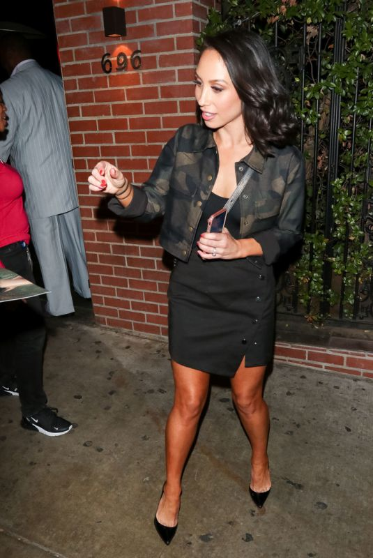 CHERYL BURKE at Abbey Nightclub in West Hollywood 11/19/2018