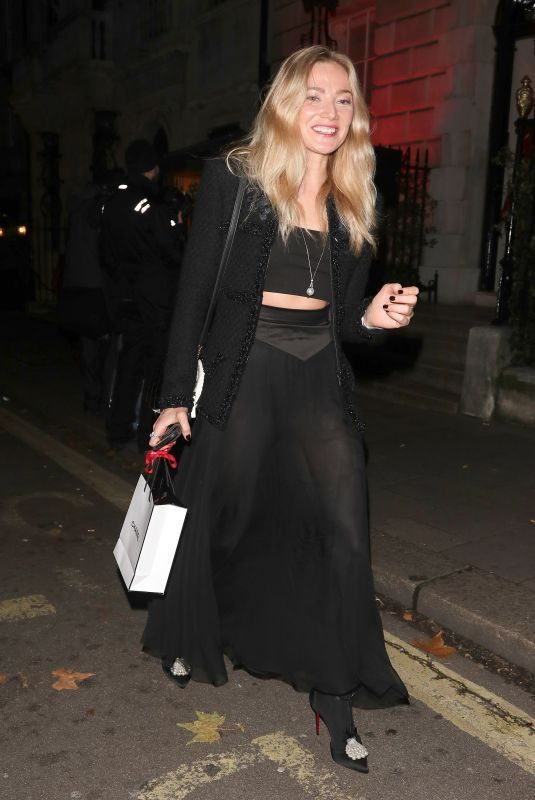 CLARA PAGET at Chanel Party at Annabel's in London 11/13/2018
