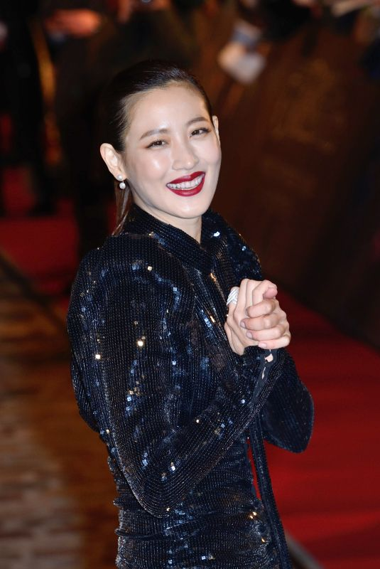 CLAUDIA KIM at Fantastic Beasts: The Crimes of Grindelwald Premiere in Paris 11/08/2018