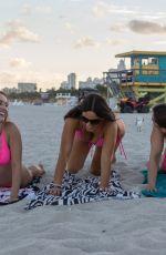 CLAUDIA ROMANI, MELISSA LORI and ANAIS ZANOTTI in Bikinis on South Beach in Miami 11/25/2018