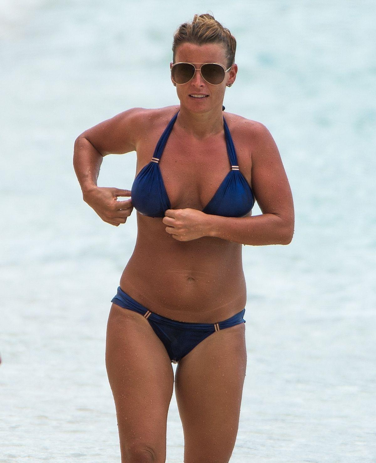What nice Colleen mcloughlin blue bikini something is