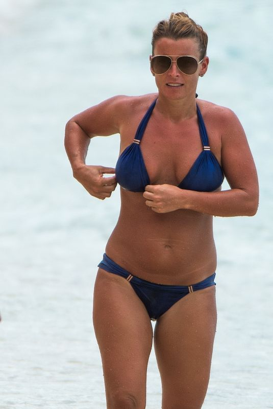 COLEEN ROONEY in Bikini at a Beach in Barbados 11/01/2018