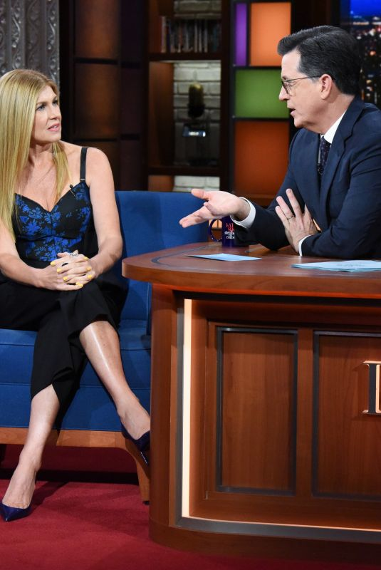 CONNIE BRITTON at Late Show with Stephen Colbert, 11/21/2018