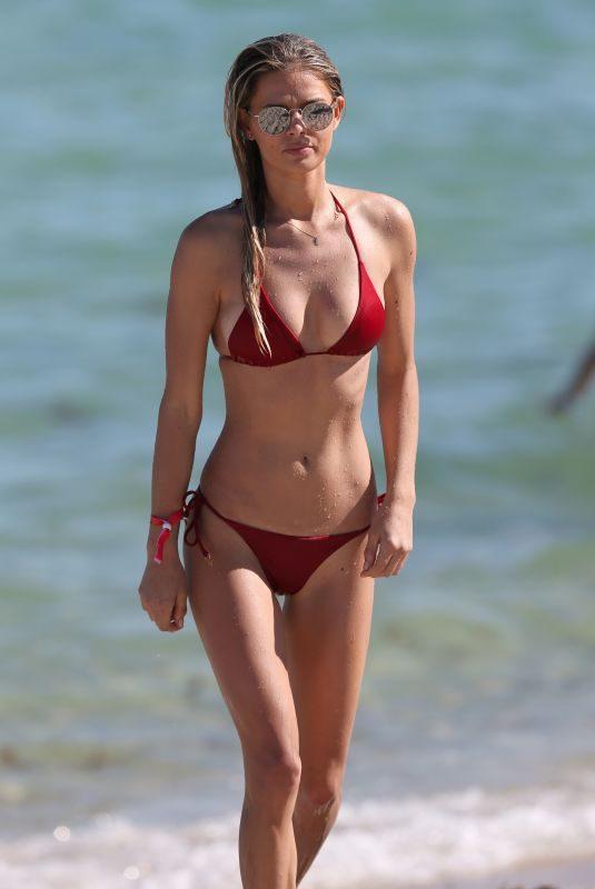 DANIELLE KNUDSON in Bikini on the Beach in Miami 11/10/2018