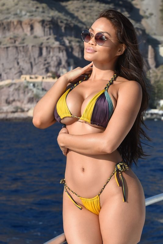 DAPHNE JOY in Bikini at a Boat in Italy 11/12/2018