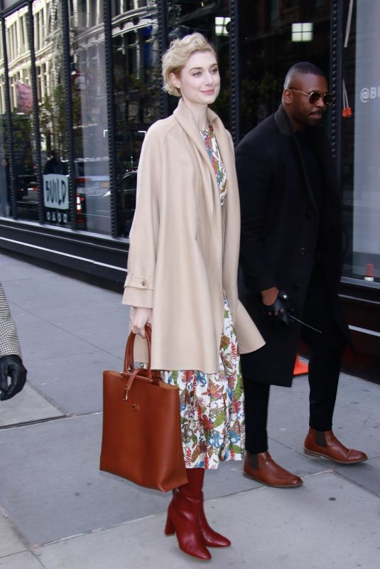 ELIZABETH DEBICKI Arrives at AOL Build Series in New York 11/12/2018