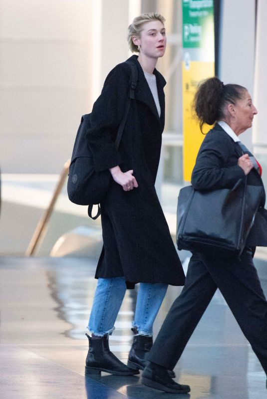 ELIZABETH DEBICKI at JFK Airport in New York 11/09/2018