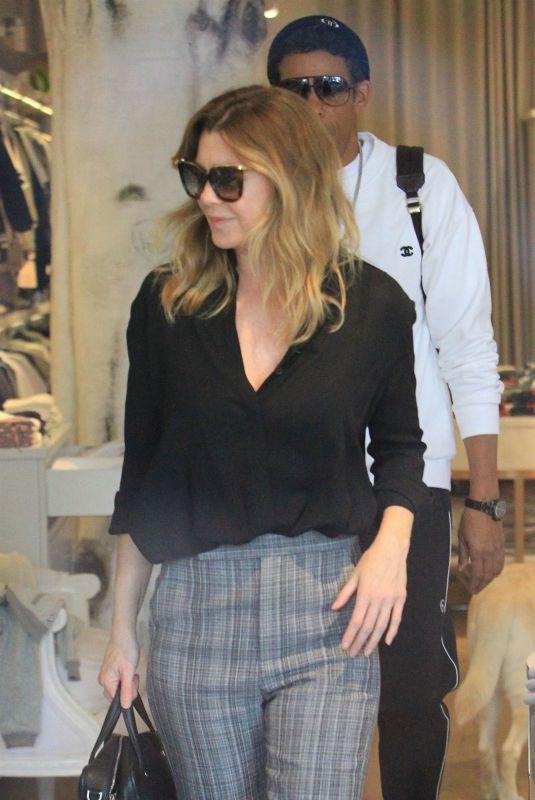 ELLEN POMPEO Shopping in Beverly Hills 11/30/2018