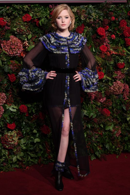 ELLIE BAMBER at Evening Standard Theatre Awards 2018 in London 11/18/2018
