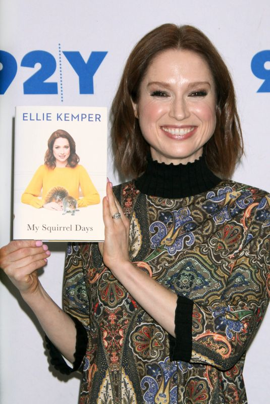 ELLIE KEMPER at 92Y Promotes Her My Squirrel Days Book in New York 11/26/2018