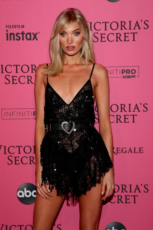 ELSA HOSK at VS Fashion Show Afterparty in New York 11/07/2018