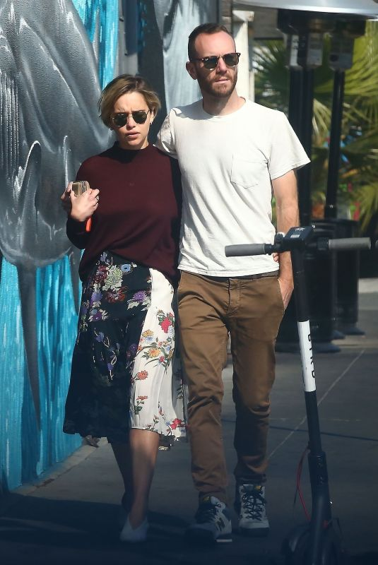 EMILIA CLARKE and Charlie McDowel Out Shopping in Venice Beach 11/11/2018